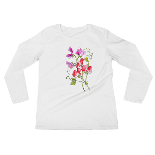 Sweet Pea Ladies Long Sleeve T-Shirt