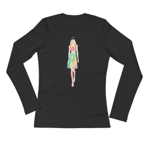 Fashion Llama Ladies Long Sleeve T-Shirt