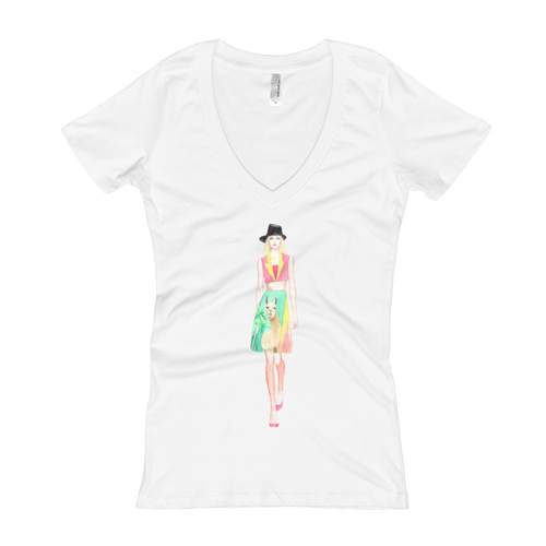 Fashion Llama Women's V-Neck T-Shirt