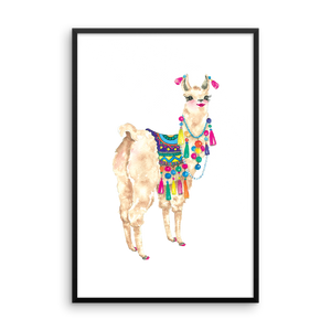 Bollyllama Framed Photo Paper Poster