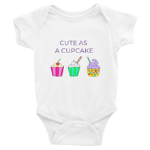 CUTE AS A CUPCAKE Infant Bodysuit