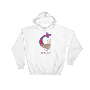Merllama Be Unique Hooded Sweatshirt