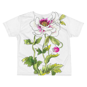 White Anemone Kids Sublimation T-Shirt