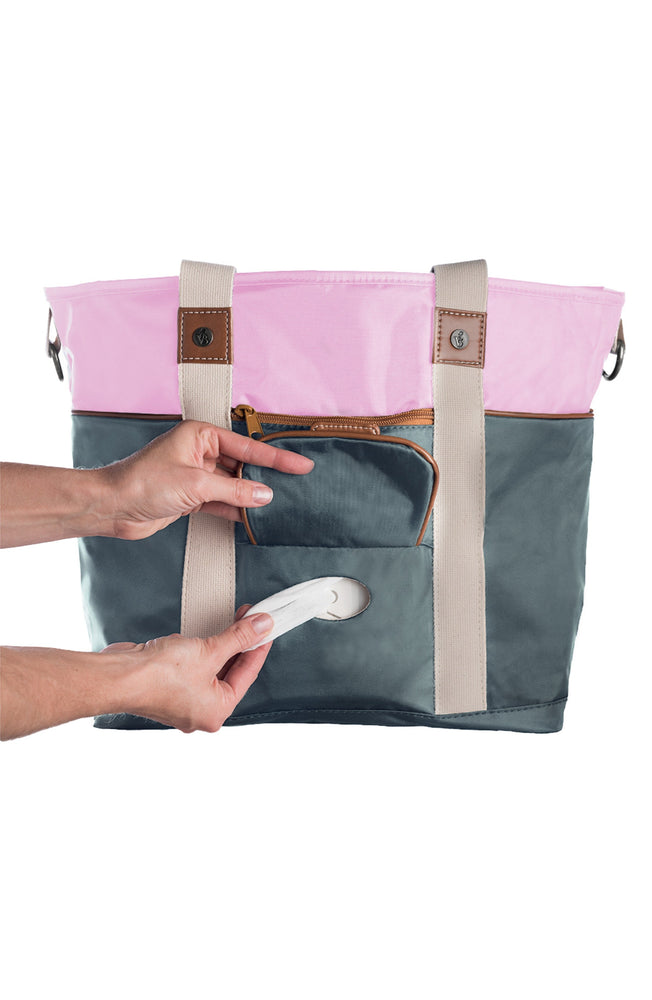 Harbor Side Tote in Pink Elephant top view