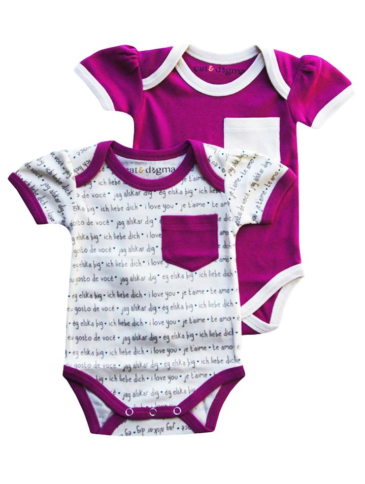 Languages/Orchid Bodysuit 2PK