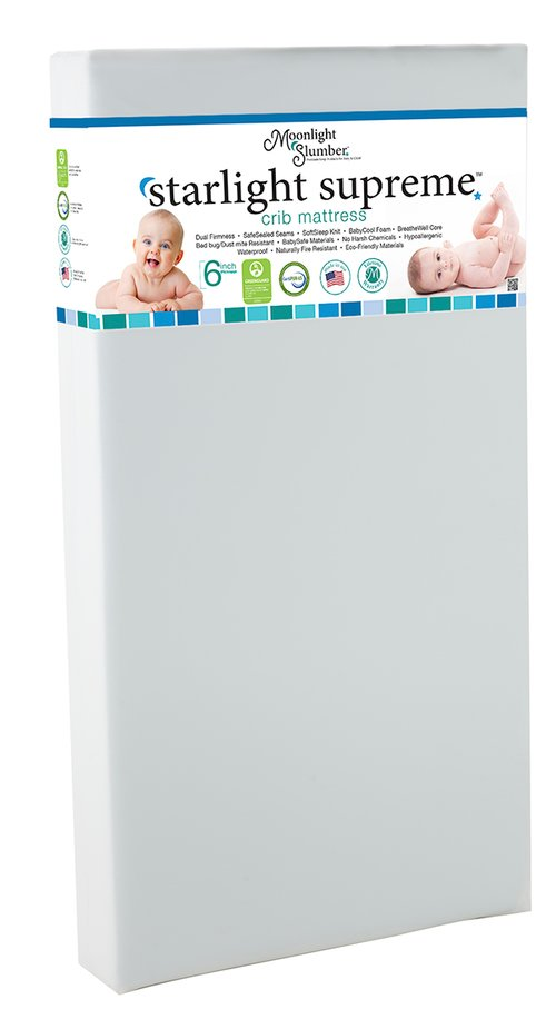 "6"" crib mattress Supreme packaged view"