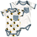 bee/gray bodysuit