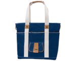 Harbor Side Tote in Nantucket Navy front view