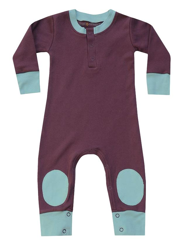 eggplant/aqua playsuit