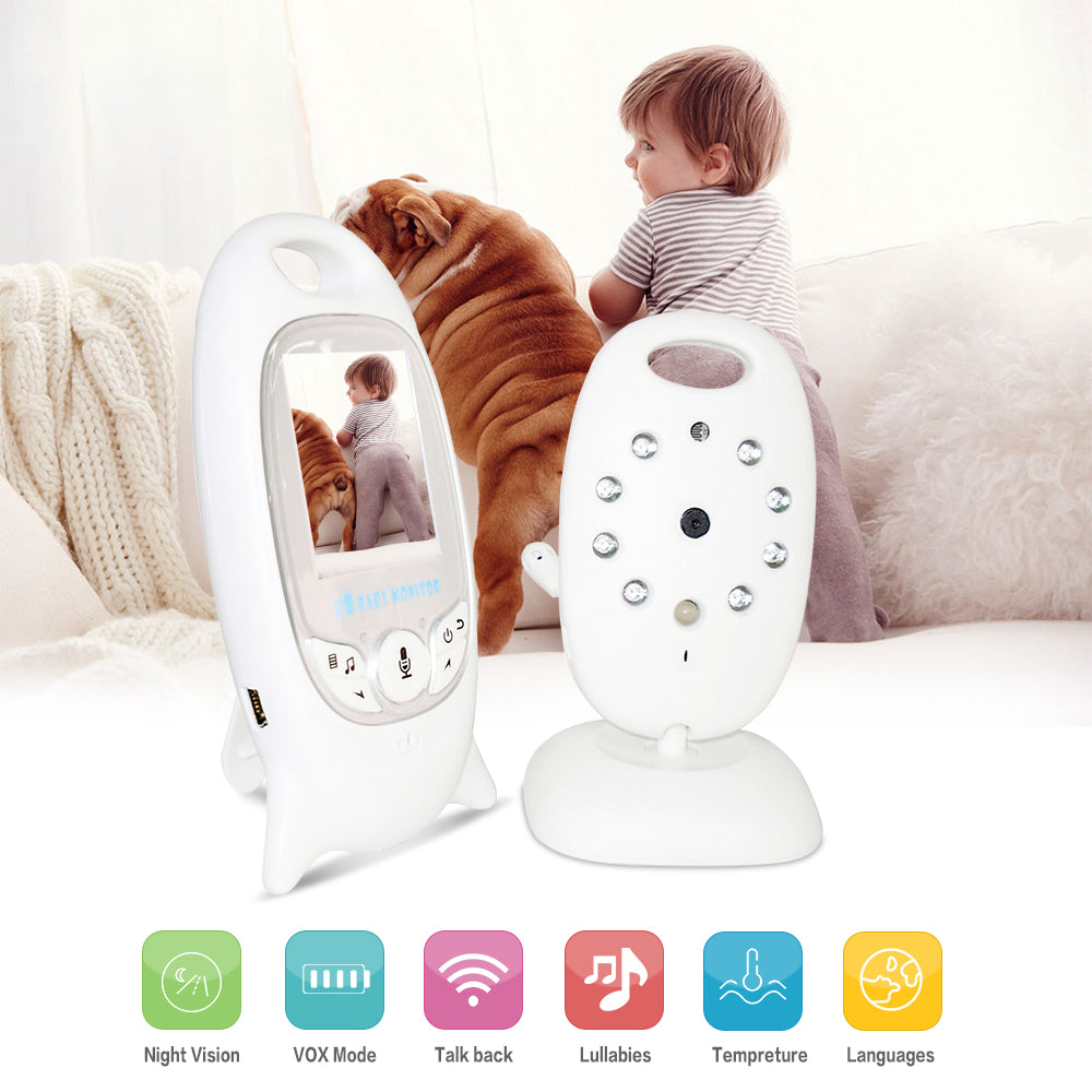 "Wireless Digital Baby Monitor with  Infrared Night Vision, lullabies, temp monitor and  2"" display"