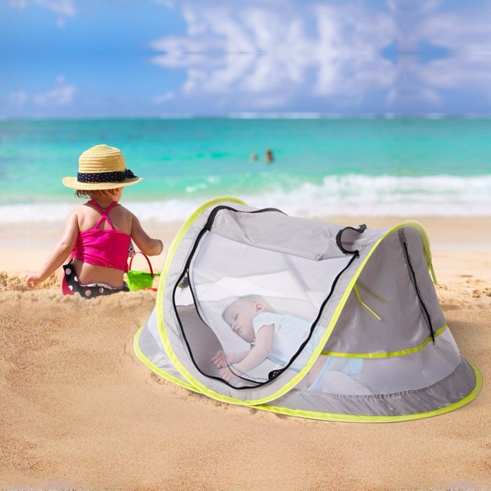 Portable Baby Beach Tent with UPF 50+Sun Protection and Insect Netting