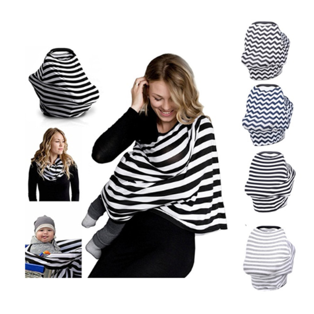 Multi-Use Stretchy Infinity Scarf Nursing Cover Canopy Cover