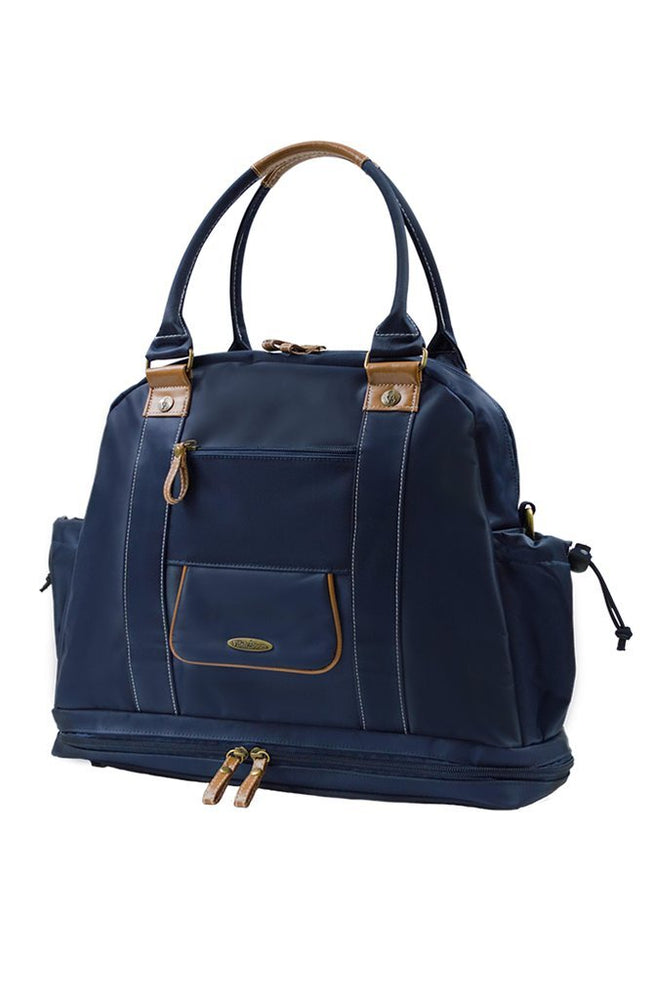 Sail Away Satchel in Nautical Navy front view