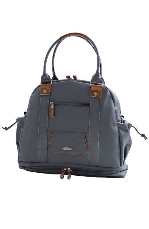 front view Sail Away Satchel in Anchor Grey