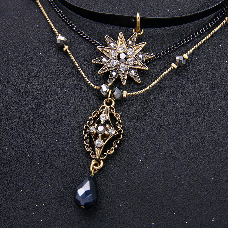 3-Layer Gothic Necklace necklace vintyjewelry