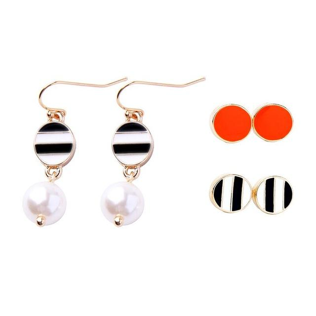 6-Piece 60s Inspired Retro Earrings Set earrings Vinty Jewelry