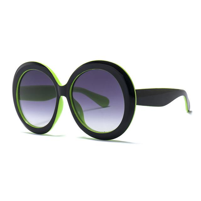 60s Round Oversized Glasses sunglasses Vinty Jewelry Purple | Green