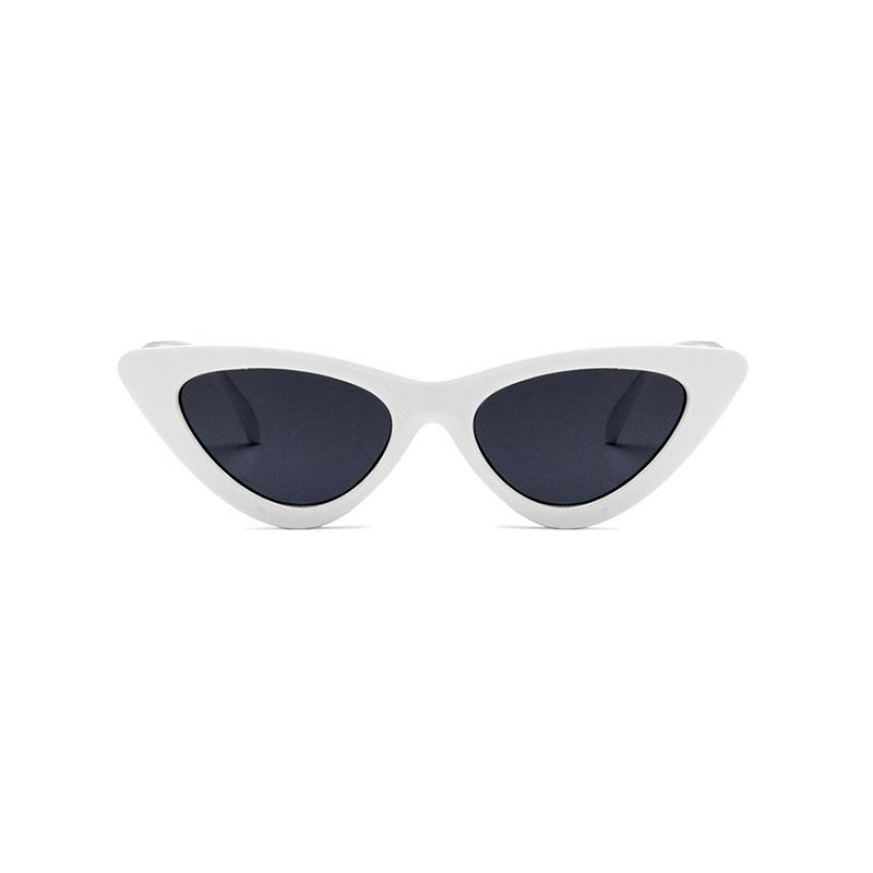 AMY Cat-Eye Sunglasses in Colored Lens sunglasses Vinty Jewelry Black