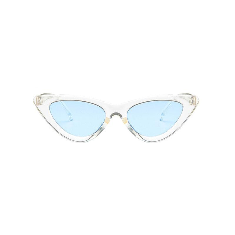 AMY Cat-Eye Sunglasses in Colored Lens sunglasses Vinty Jewelry Mintcream