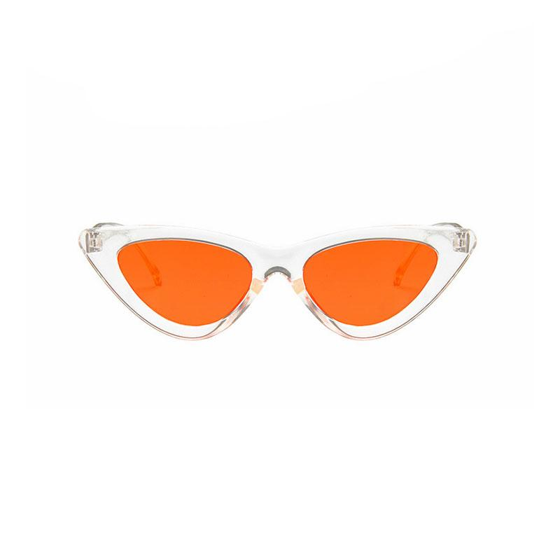 AMY Cat-Eye Sunglasses in Colored Lens sunglasses Vinty Jewelry Orange