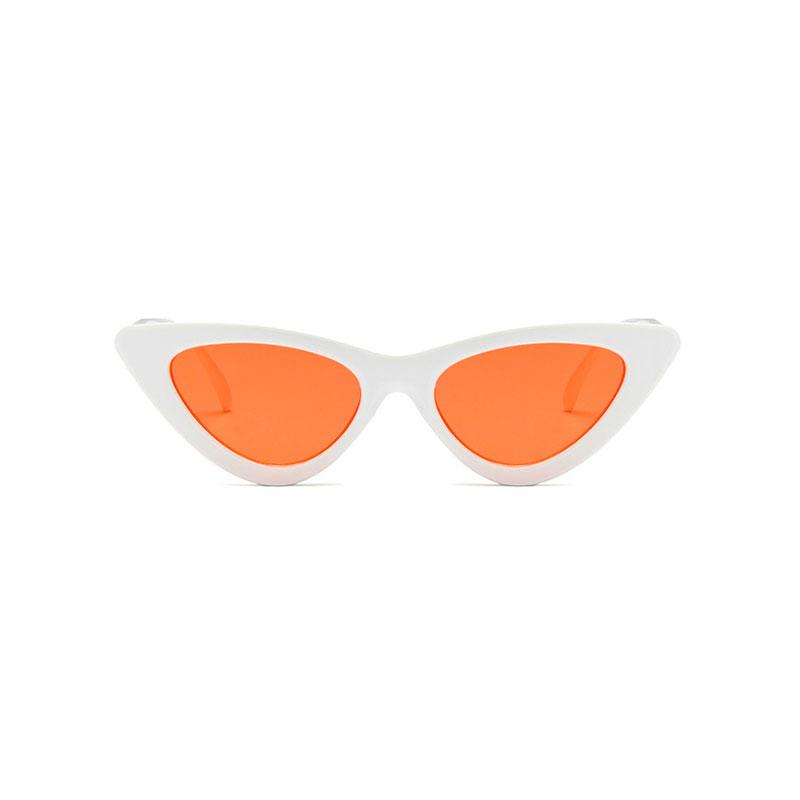 AMY Cat-Eye Sunglasses in Colored Lens sunglasses Vinty Jewelry Orangered