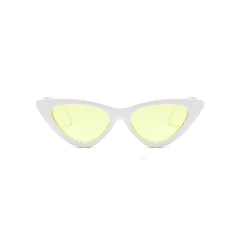 AMY Cat-Eye Sunglasses in Colored Lens sunglasses Vinty Jewelry Yellow