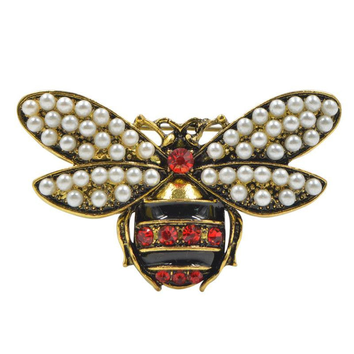Bee Brooch With Pearl Embellished Wings brooch Vinty Jewelry
