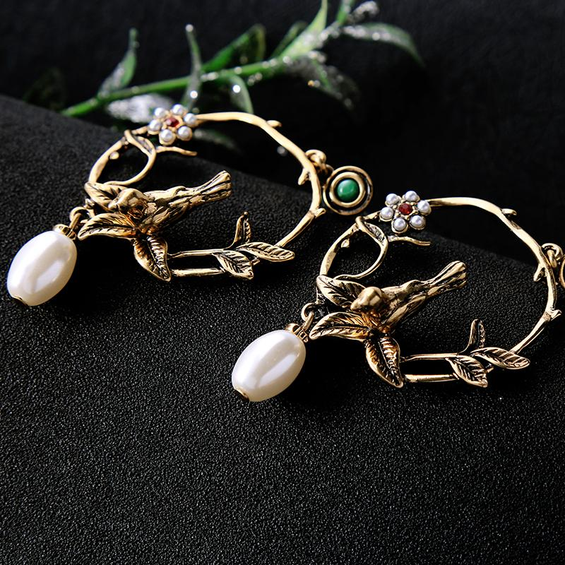 Bird Nest Hoop Earrings earrings Vinty Jewelry