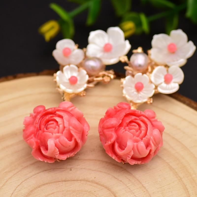 Blooming Flower Earrings earrings Vinty Jewelry