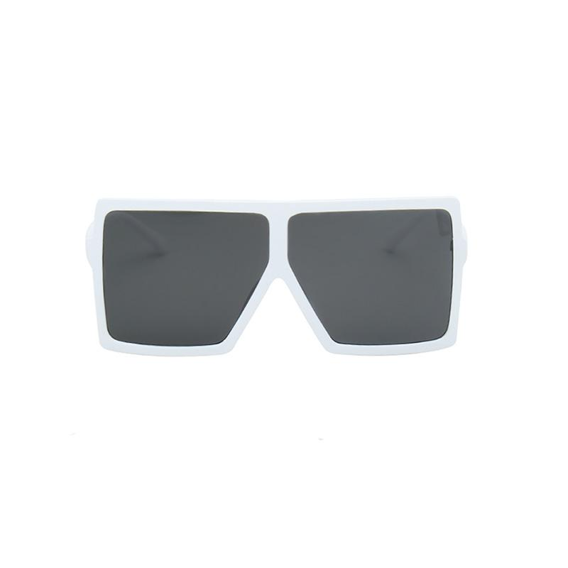 Bulky Square Sunglasses sunglasses Vinty Jewelry White