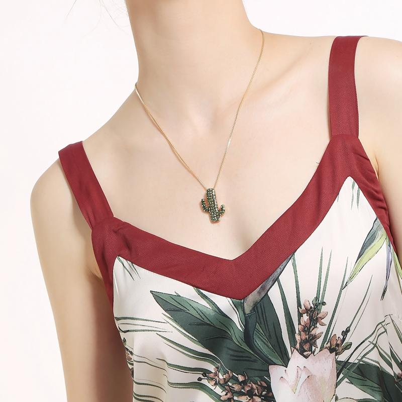 Cactus Pendant Necklace necklace Vinty Jewelry