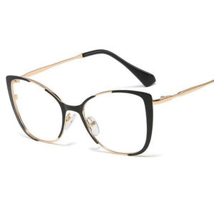 Cat Eye Glasses With Clear Lenses Vinty Jewelry Black