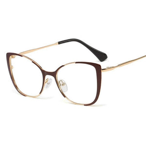 Cat Eye Glasses With Clear Lenses Vinty Jewelry Coffee