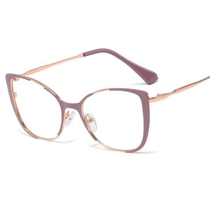 Cat Eye Glasses With Clear Lenses Vinty Jewelry Purple