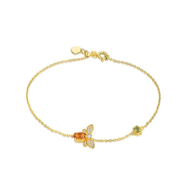 Citrine Honey Bee Bracelet bracelet Vinty Jewelry