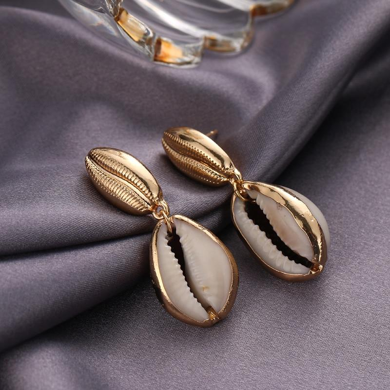 Cowry Shell Earrings earrings Vinty Jewelry