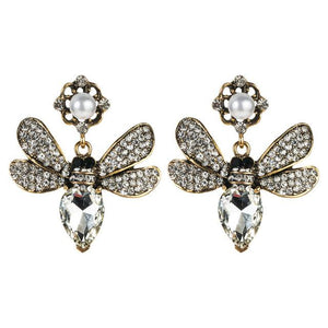 Crystal Wasp Earrings earrings Vinty Jewelry