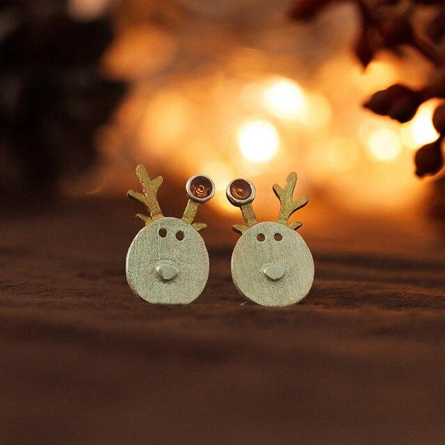 Cute Deer Earrings earrings Vinty Jewelry Red