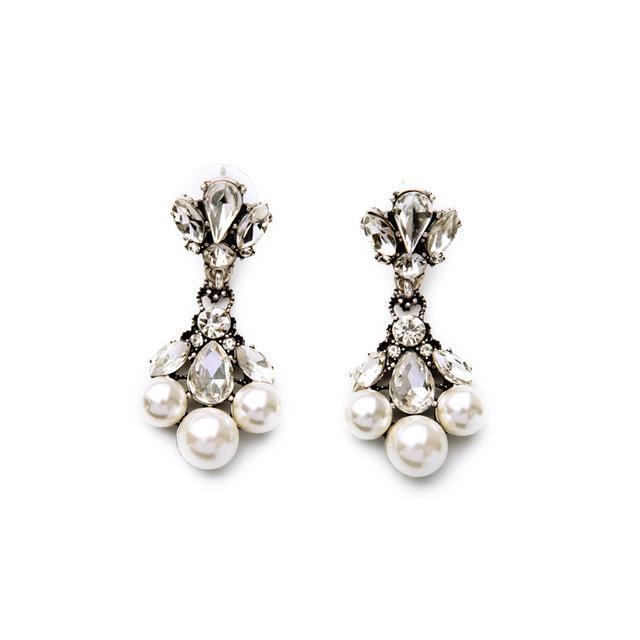 Elegant Faux Pearl Earrings earrings vintyjewelry
