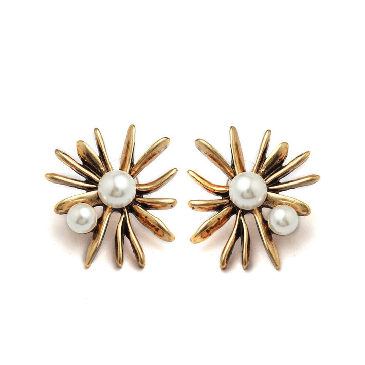 Elegant Flower Pearl Earrings earrings vintyjewelry