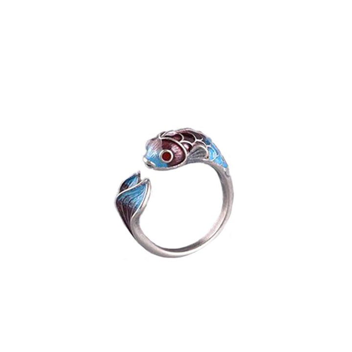 Enamelled Koi Fish Ring ring Vinty Jewelry