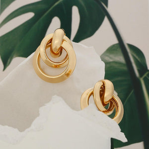 Gold Plated 80s Knot Earrings earrings Vinty Jewelry
