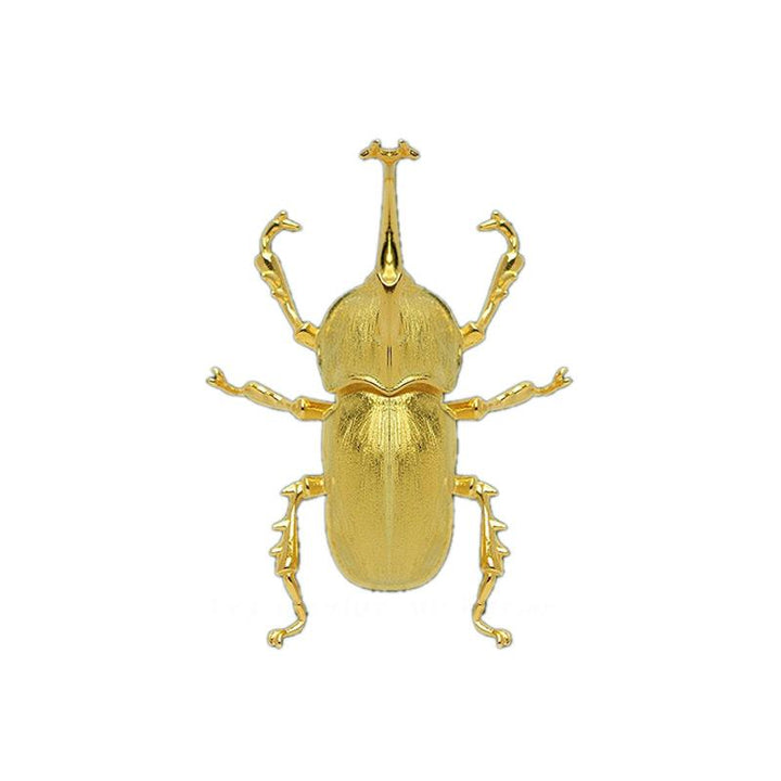 Gold Stag Beetle Brooch brooch Vinty Jewelry
