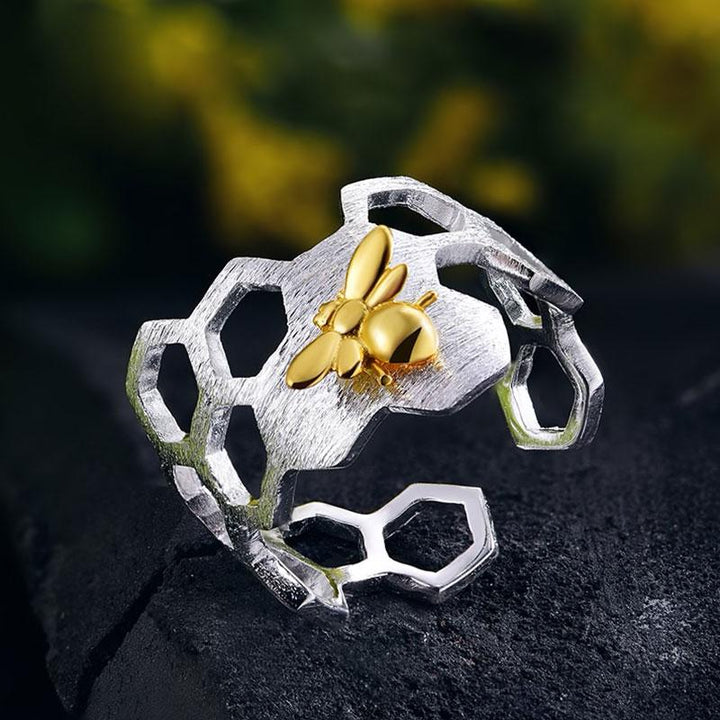 Honeycomb Ring ring Vinty Jewelry