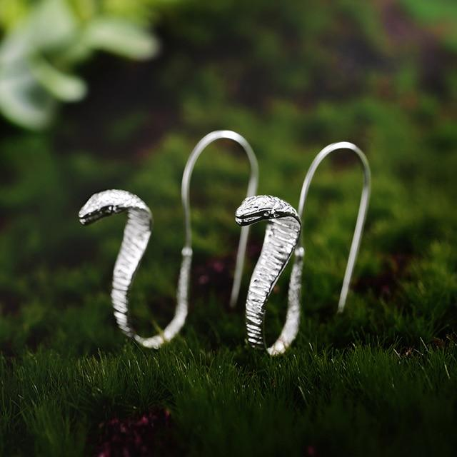 Hooded Snake Earrings earrings Vinty Jewelry silver