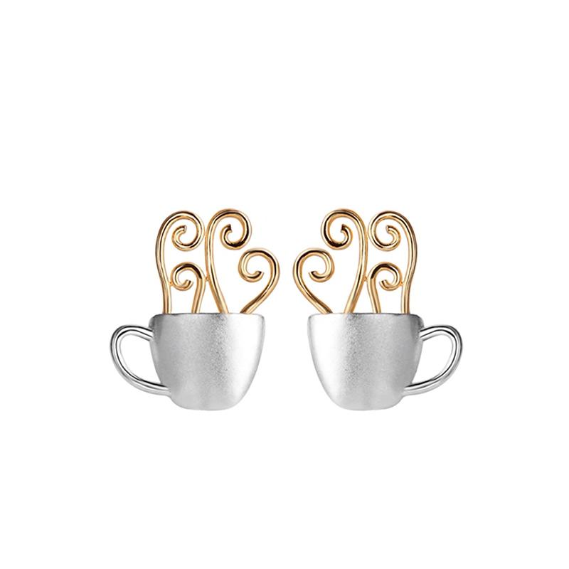 Hot Tea Cup Stud Earrings earrings Vinty Jewelry