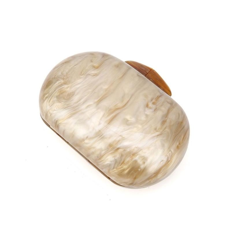 Marble Acrylic Clutch in Beige bag Vinty Jewelry