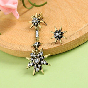 Mismatched Crystal Star Earrings earrings Vinty Jewelry
