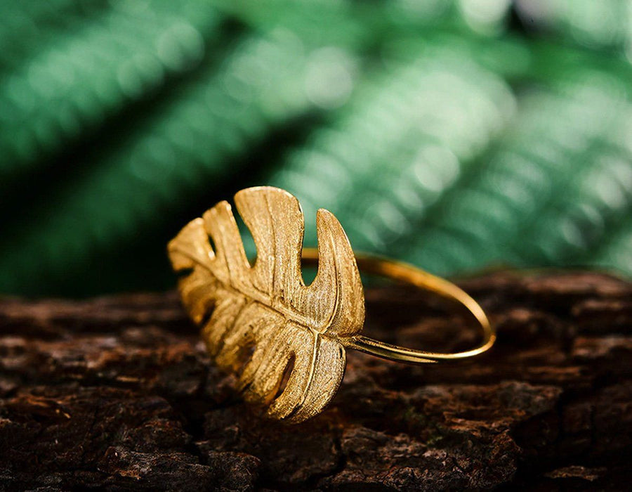 Monstera Leaf Ring ring Vinty Jewelry