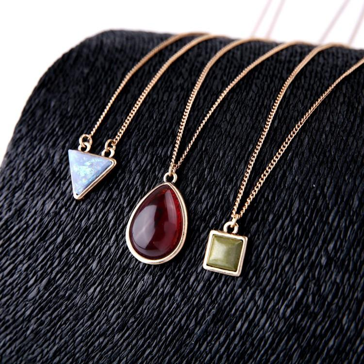 Multilayer Geometric Pendant Necklace necklace vintyjewelry